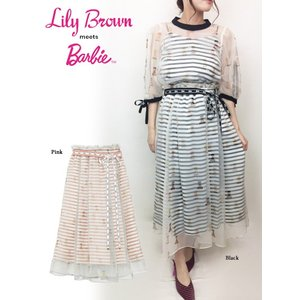 20%OFF Lily Brown リリーブラウン  Barbieレイヤードスカート  19春夏 LWFS191201 フレアスカート  定価 15500円|hearty-select