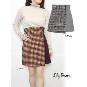 Lily Brown リリーブラウン ツイードチェック台形スカート  19秋冬 LWFS194171...