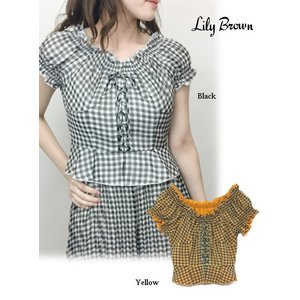 20%OFF Lily Brown リリーブラウン  ギンガムフリルトップス  19春夏 LWFT191015 シャツ・ブラウス  定価 9200円|hearty-select