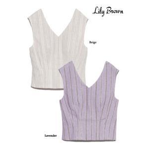 20%OFF Lily Brown リリーブラウン バックオープントップス  19春夏.予約 LWFT192077タンクトップ・ノースリーブトップス 定価7800円|hearty-select
