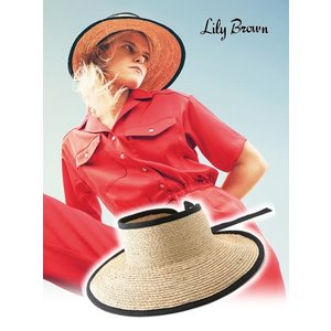 20%OFF Lily Brown リリーブラウン  ブレードサンバイザー  19春夏 LWGH191333 帽子  定価 8300円|hearty-select