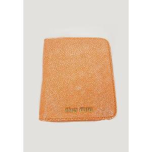miumiu ミュウミュウ  カーフ二つ折り財布 オレンジARANCIO|hearty-select