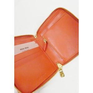 miumiu ミュウミュウ  カーフ二つ折り財布 オレンジARANCIO|hearty-select|02