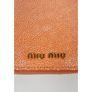 miumiu ミュウミュウ  カーフ二つ折り財布 オレンジARANCIO|hearty-select|03