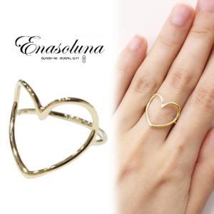 """Enasoluna エナソルーナ Heartful ring""""K10""""  RG-1281リング 10金 指輪 母の日 ギフト プレゼント ハート hearty-select"""