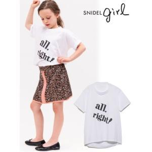 50%OFF snidel (スナイデル)KIDSビッグロゴTシャツ  19春夏. SKCT192134トップス 定価4500円 hearty-select
