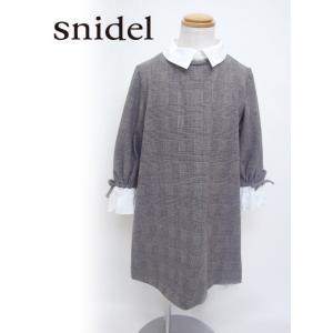 snidel(スナイデル)girlホワイトカラーワンピース  17秋冬【SKFO174198】 hearty-select