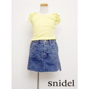 夏セール50%OFF! snidel(スナイデル)girlデニムミニスカート  17春夏【SKFS171214】 hearty-select