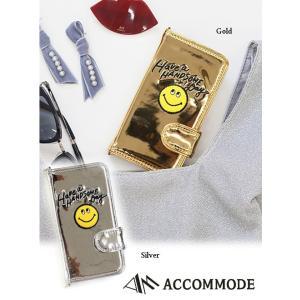 セール50%OFF  ACCOMODEアコモデ メタリックハンサムスマイルiPhoneケース  18春夏 ST011|hearty-select