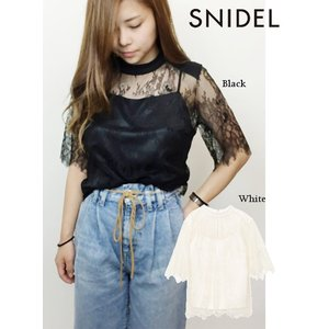 60%OFF snidel スナイデル レーストップス  18秋冬 SWFB185093  カットソー hearty-select