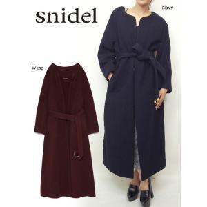 snidel(スナイデル)ベルティッドロングコート  17秋冬【SWFC174008】|hearty-select