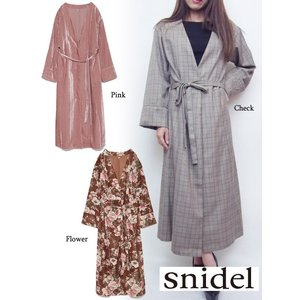 snidel(スナイデル)バリエーションロングガウン  17秋冬【SWFJ174014】|hearty-select
