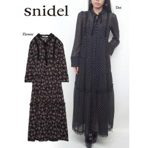 snidel(スナイデル)スタンドカラーロングワンピース  17秋冬【SWFO174102】|hearty-select