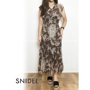 snidel スナイデル シアープリーツプリントワンピース  19秋冬予約  SWFO194058 hearty-select