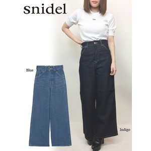 50%OFF snidelスナイデル Leeコラボレースアップワイド パンツ  17秋冬. SWFP176301|hearty-select