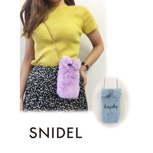 snidel スナイデル エコファーiPhoneケース iphone7対応  18秋冬 SWGG184626 iPhone・iPadケース 18awpresnidel|hearty-select