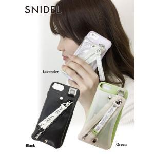 20%OFF snidel スナイデル  ポケットスマホケース  iphone7/8対応 19春夏 SWGG191636 iPhone・iPadケース  定価 7400円|hearty-select