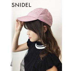 40%OFF snidel スナイデル ロゴキャップ  19春夏 SWGH191642 帽子 定価4800円|hearty-select