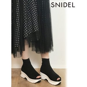 snidel スナイデル オープントゥスニーカーソールブーツ  19秋冬予約  SWGS194614 hearty-select