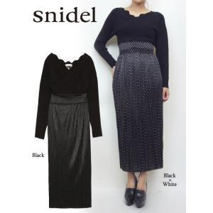 snidel(スナイデル)スカラニットドッキングワンピース  17秋冬【SWNO174110】|hearty-select