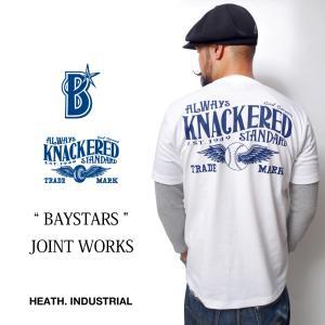 横浜DeNAベイスターズ 公式 コラボ Tシャツ グッズ オフィシャルグッズ 大きいサイズ XLサイズ  厚手 横浜 野球|heath