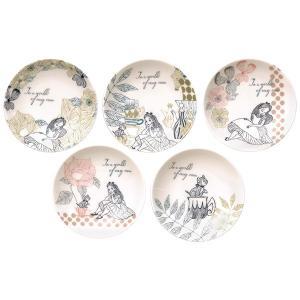★内容:アリス 小皿5Pセット ★サイズ:φ11.5×H1.5cm ★材質:磁器/日本製 ★電子レン...
