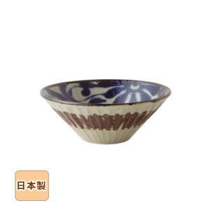 琉球るり唐草 しのぎ深鉢 大 18.6cm 和食器 日本製 美濃焼