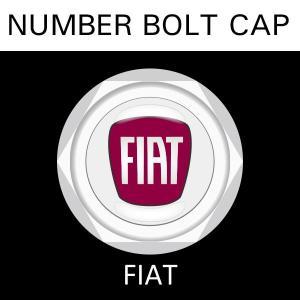 ナンバープレート用 FIAT フィアット ナンバーボルトキャップ NUMBER BOLT CAP 3個入りセット タイプ1 ブラガ  レビューを書いて送料無料