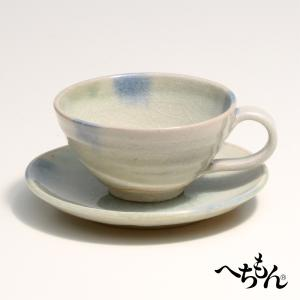 【信楽焼】へちもん 朝露 紅茶碗皿