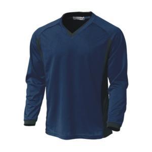 ベーシックロングスリーブサッカーシャツ  P1930-01 ネイビー  サッカー ウンドウ wundou スポーツウエア|hed-club7