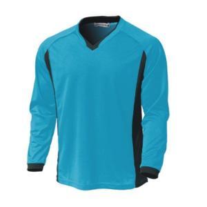 ベーシックロングスリーブサッカーシャツ  P1930-02 ターコイズ  サッカー ウンドウ wundou スポーツウエア|hed-club7