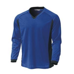 ベーシックロングスリーブサッカーシャツ  P1930-05 ロイヤルブルー   サッカー ウンドウ wundou スポーツウエア|hed-club7