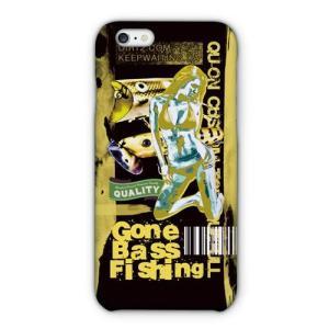 [アングラーズケース] ブラックバス Gone Bass Fishing ローライダーポスター風 イエロー (商品コード: 2015101208)|hedgehog-studio