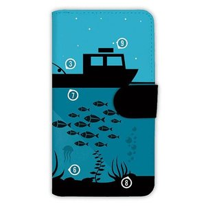 [アングラーズケース] 【手帳型】夜のボート釣り指南 (商品コード: diary2015110716) hedgehog-studio