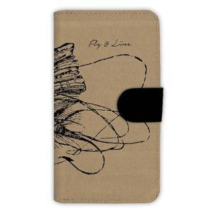 [アングラーズケース] 【手帳型】フライタックル 手書き風 (商品コード: diary2015110715) hedgehog-studio