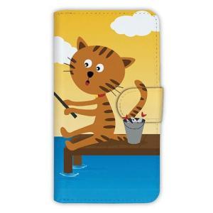 [アングラーズケース] 【手帳型】猫と釣り 晴天なり (商品コード: diary2015110711) hedgehog-studio