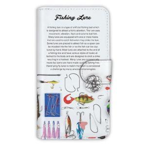 [アングラーズケース] 【手帳型】Fishing Lure (商品コード:  diary2015110701) hedgehog-studio