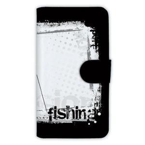[アングラーズケース] 【手帳型】fishing horizontal background (商品コード: diary2015110410)|hedgehog-studio