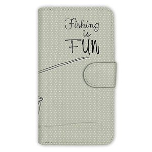 [アングラーズケース] 【手帳型】レトロな可愛い男の子と釣り (商品コード: diary2015110404)|hedgehog-studio