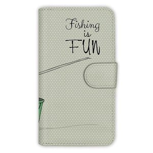 [アングラーズケース] 【手帳型】レトロな可愛い男の子と釣り (商品コード:  diary2015110403)|hedgehog-studio