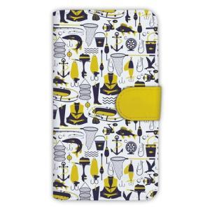 [アングラーズケース] 【手帳型】釣具のシームレスパターン (商品コード:  diary2015110210)|hedgehog-studio