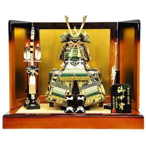 【五月人形】【平飾り】鶯縅 大鎧平台飾り 人形の平安大新 am12032|heiandaishin
