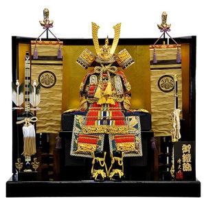 【五月人形】【平飾り】朱赤縅 大鎧平台飾り 人形の平安大新 am12033|heiandaishin