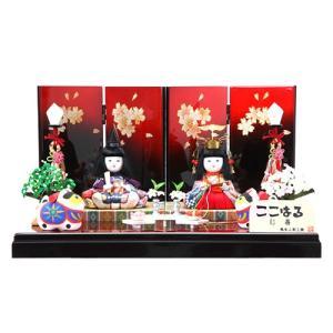 雛人形 ひな人形 木目込人形 コンパクト 平飾り 幼顔が愛らしい親王飾り 平安大新 hd12004|heiandaishin