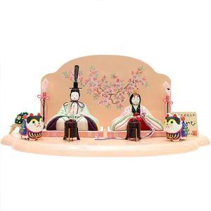 【ひな人形】【木目込人形】【コンパクト】【平飾り】春ならではの色合いな親王飾り 人形の平安大新 hd12005|heiandaishin