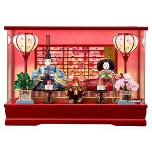 雛人形 コンパクト ケース飾り ぼんぼり電気付親王飾り 平安大新 ひな人形 送料無料 hd12011|heiandaishin