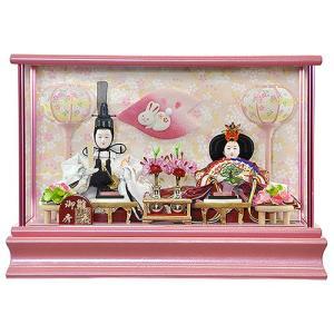 雛人形 ひな人形 コンパクト ケース飾り 縁起の良いうさぎがアクセントの雛人形 平安大新 hd12020|heiandaishin