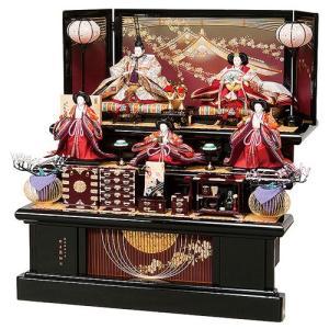 雛人形 衣裳着五人三段飾りセット 竹細工が美しい飾り台と屏風に映える豪華な三段五人飾り 平安大新 ひな人形 送料無料 hd12026|heiandaishin