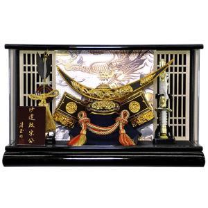 五月人形 伊達政宗 兜 ケース飾り コンパクト アクリルケース 兜飾り 平安泉匠作 人形の平安大新 hm12014|heiandaishin