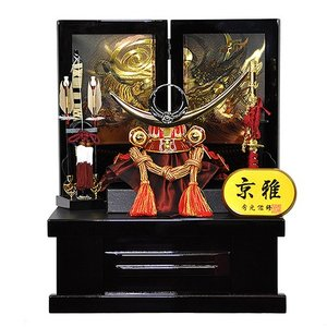 五月人形 上杉謙信 兜 コンパクト 収納飾り 朱赤塗り兜 人形の平安大新 hm12052|heiandaishin